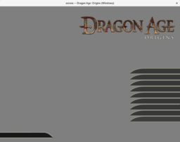 Dragon Age: Origins main menu (WIP)