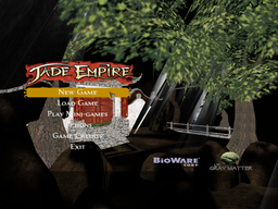 Jade Empire main menu