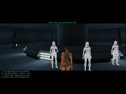 Meeting the Handmaidens in KotOR2