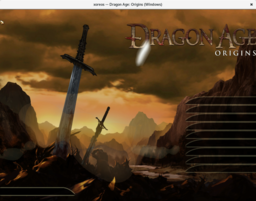 WIP Dragon Age: Origins main menu