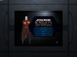 KotOR main menu with Darth Malak